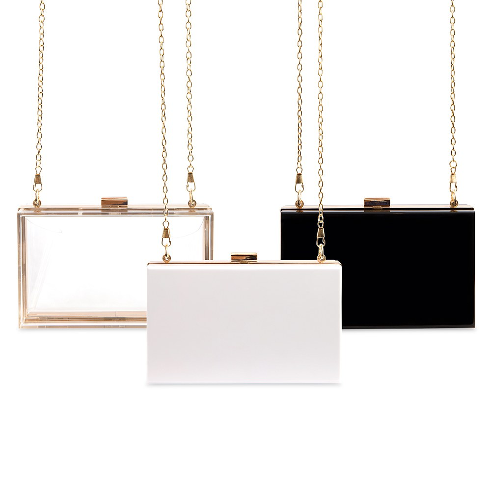 Acrylic Box Clutch - Black