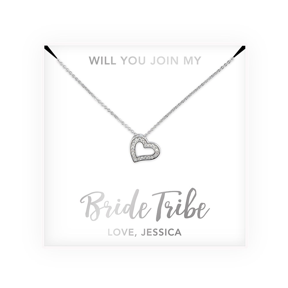 Personalized Bridal Party Pendant Necklace - Bride Tribe