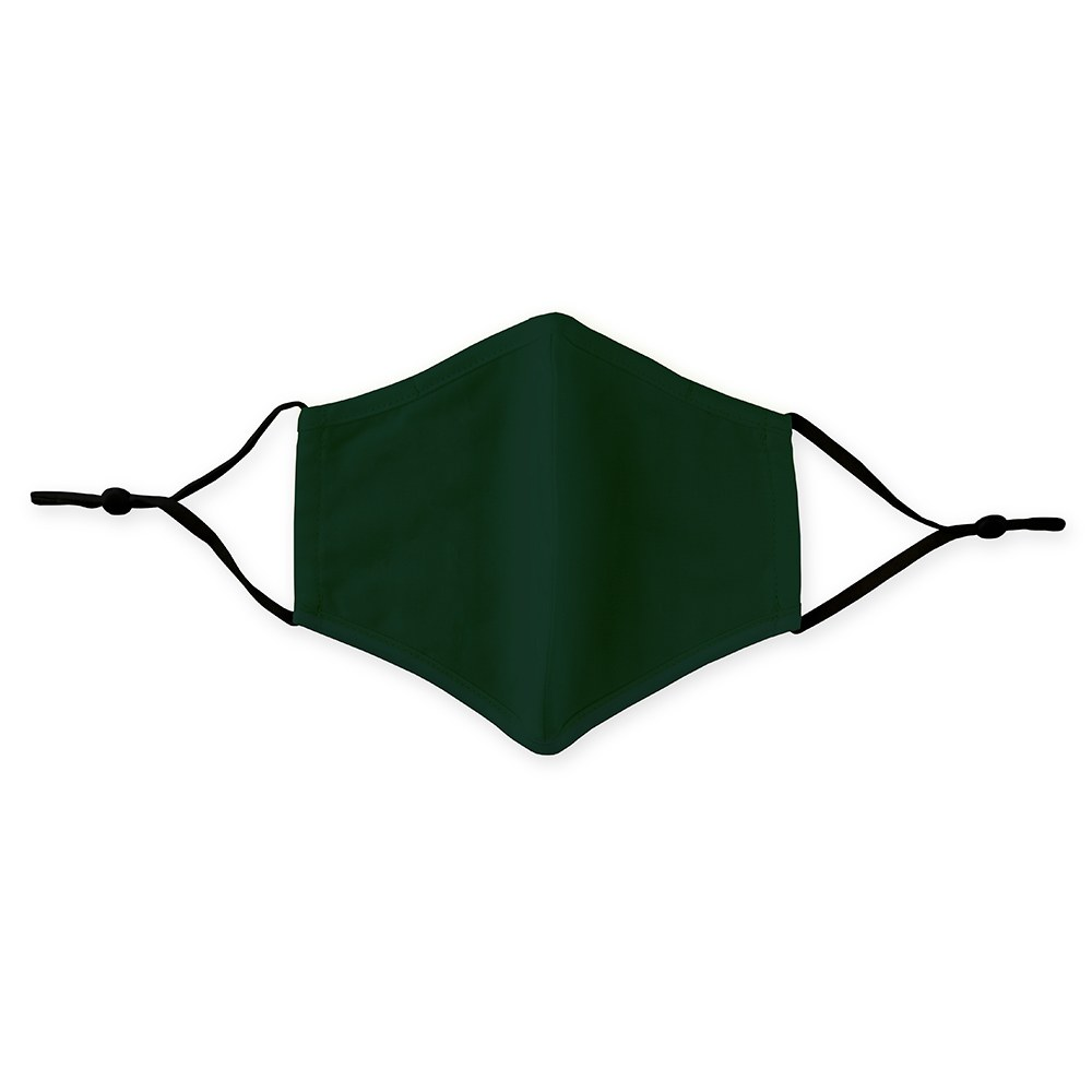 Adult Protective Cloth Face Mask - Dark Green