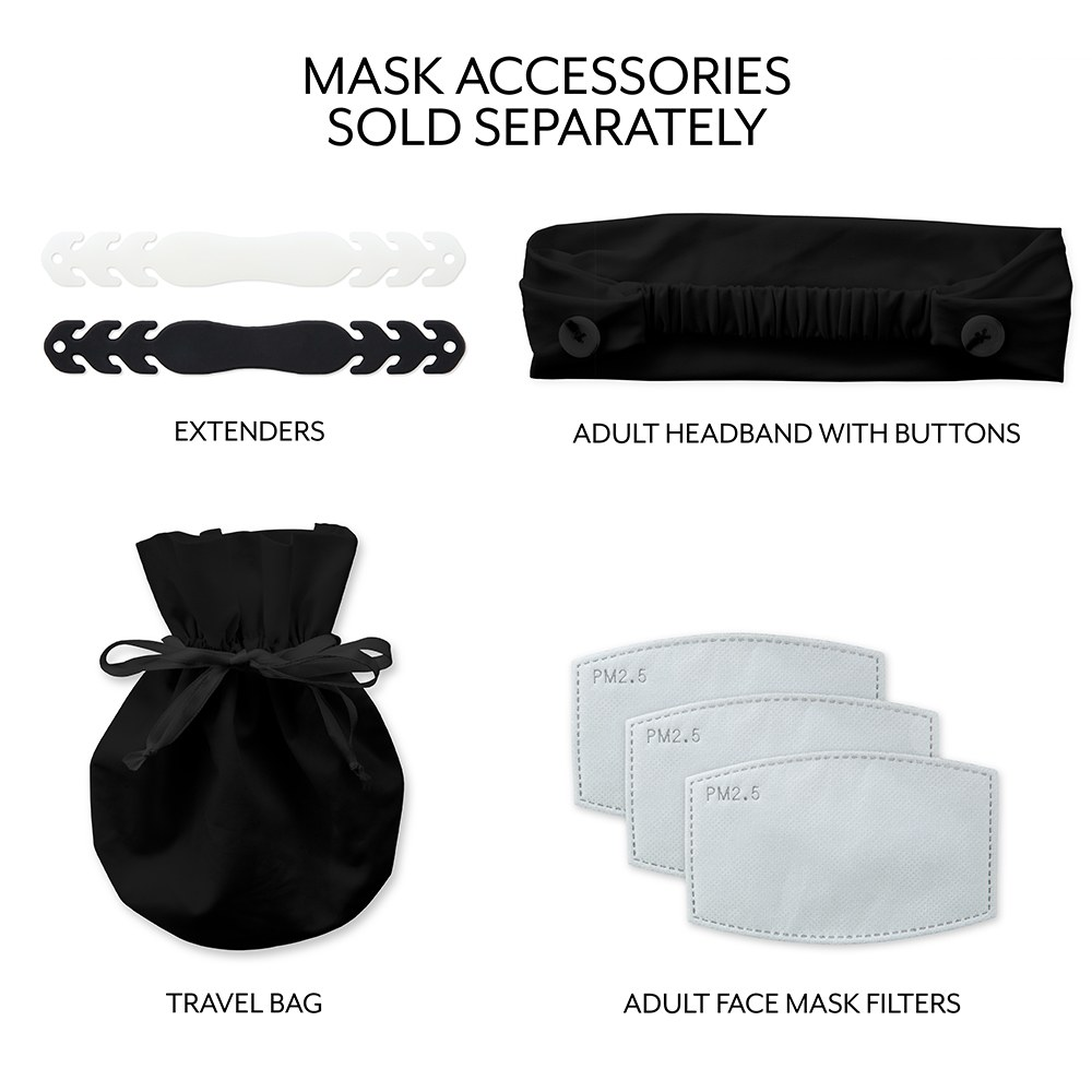 Personalized Adult Wedding Reusable, Washable 3 Ply Cloth Face Mask - Open Text