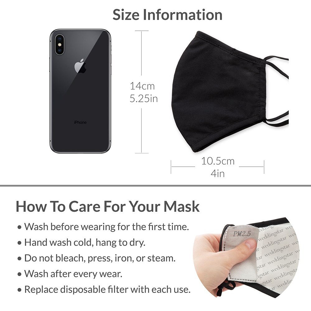 Personalized Adult Wedding Reusable, Washable 3 Ply Cloth Face Mask - In Holy Maskrimony