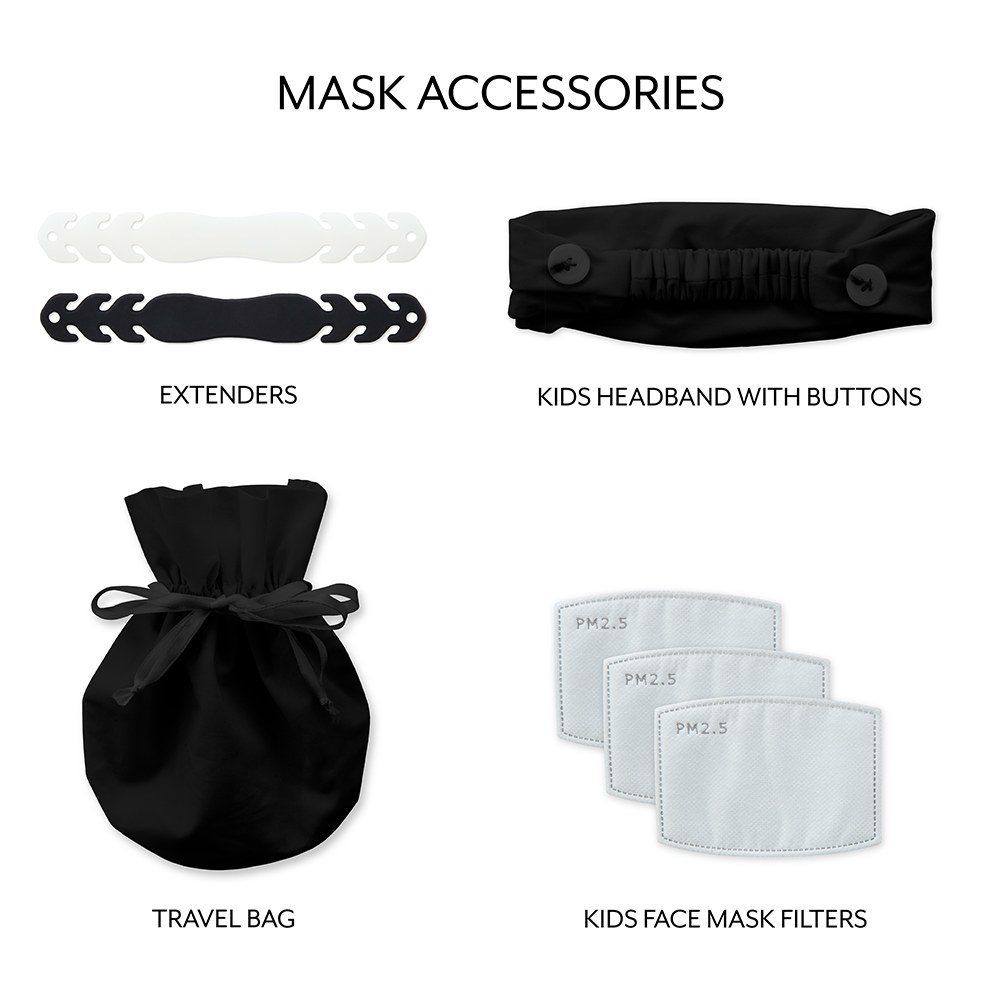 Kid's Protective Cloth Face Mask - Black