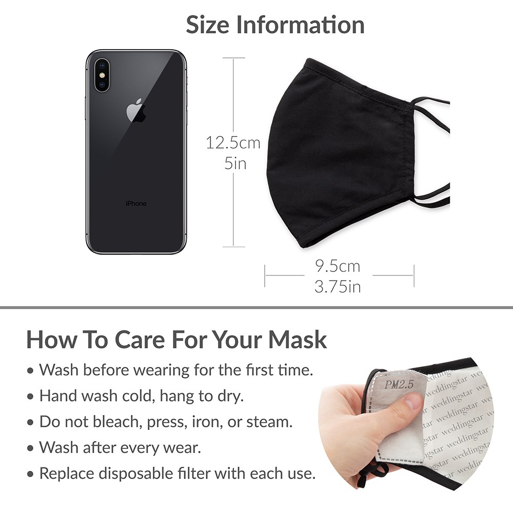 Kid's Protective Cloth Face Mask - Dark Pink
