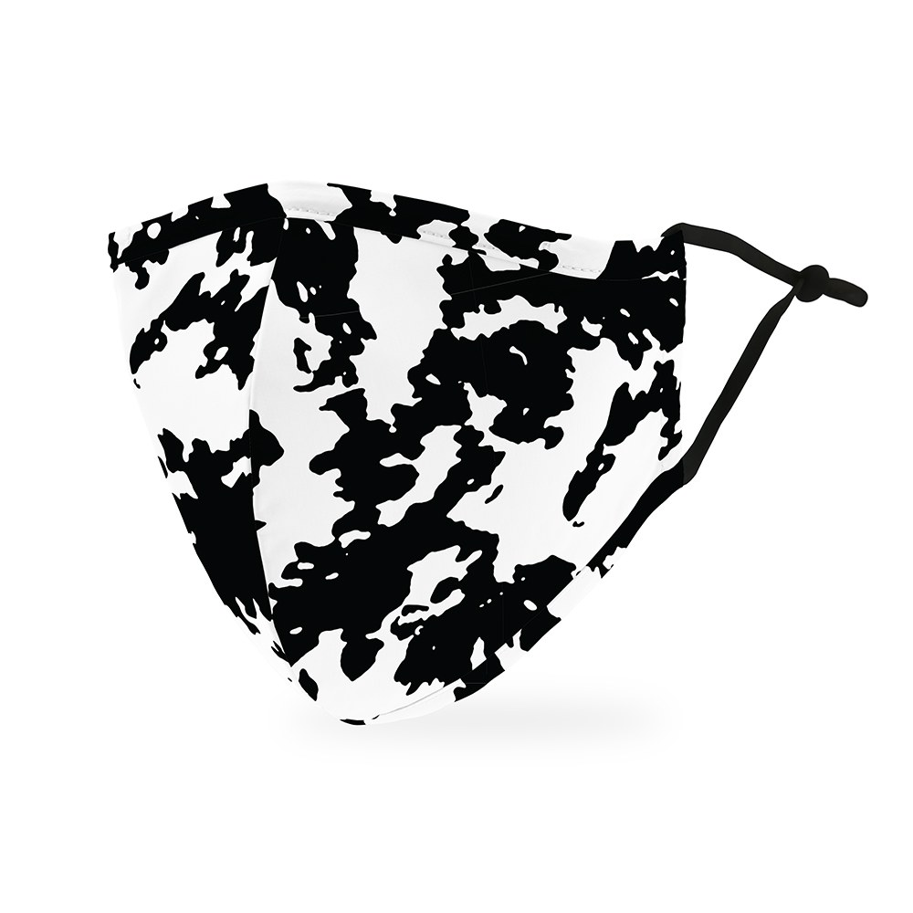 Adult Protective Cloth Face Mask - Cow Print