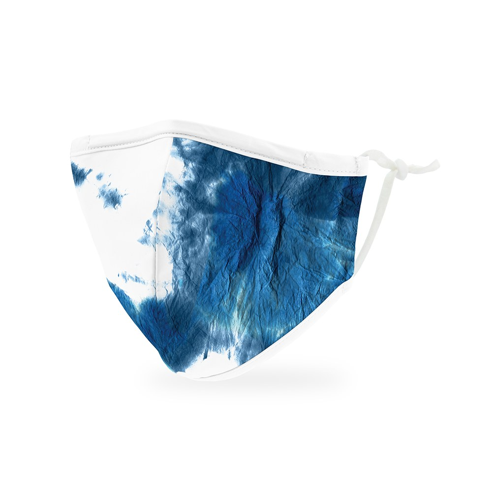 Kid's Protective Cloth Face Mask - Blue Tie-Dye