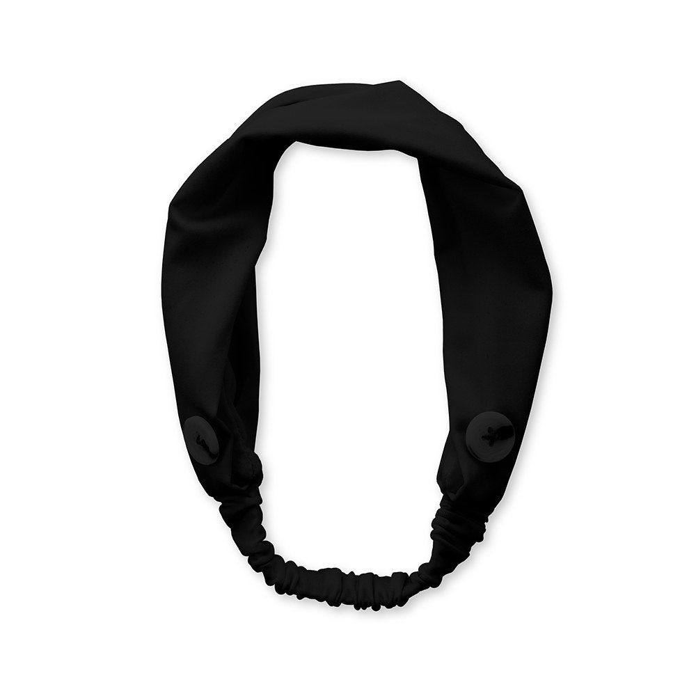 Adult Face Mask Headband Holder - Black