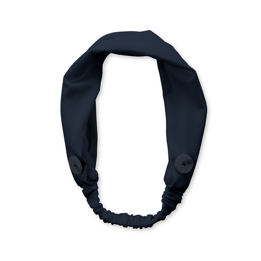 Adult Face Mask Headband Holder - Navy Blue