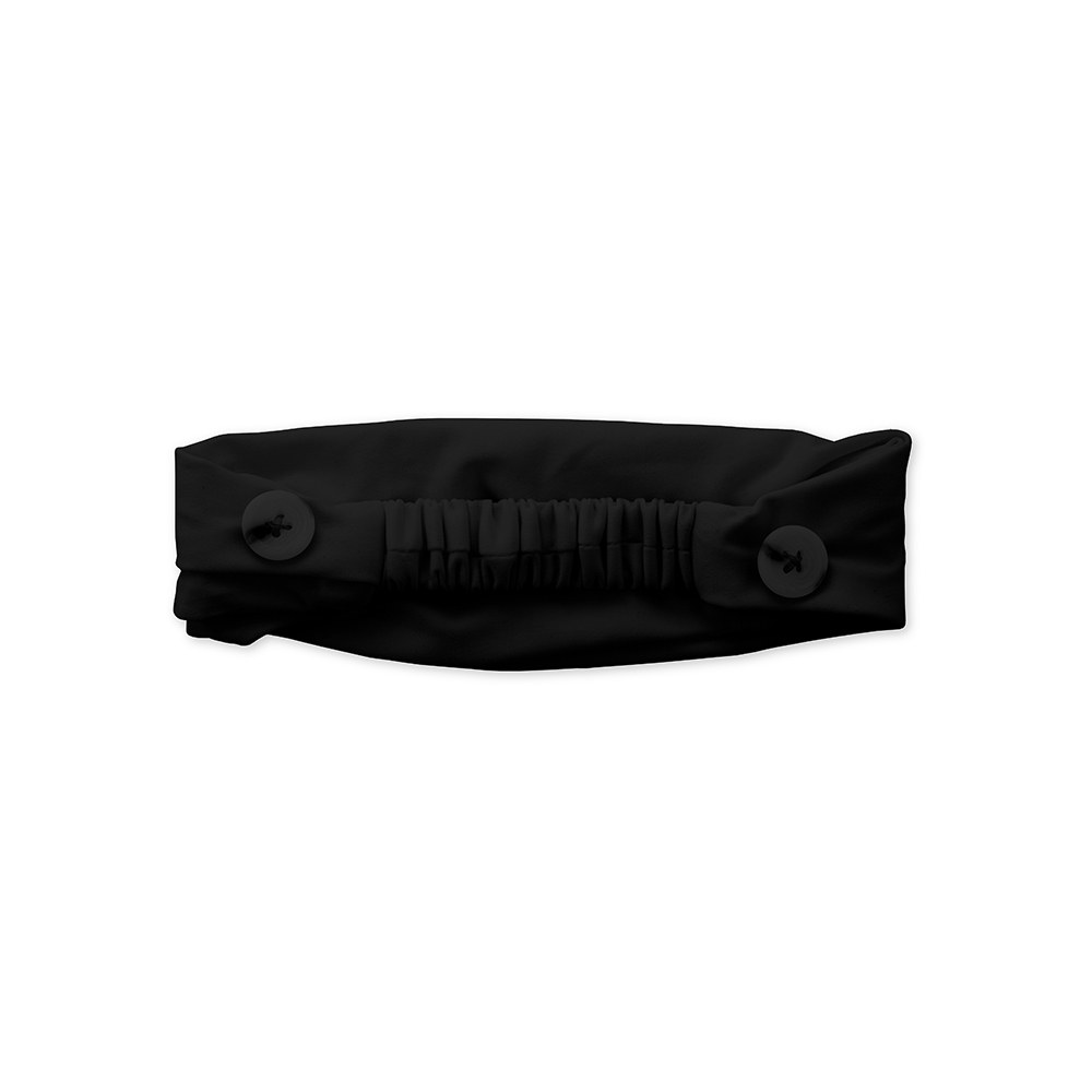 Kids Face Mask Headband Holder - Black