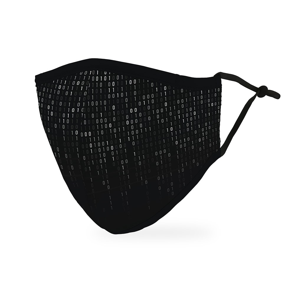 Adult Protective Cloth Face Mask - Binary Code