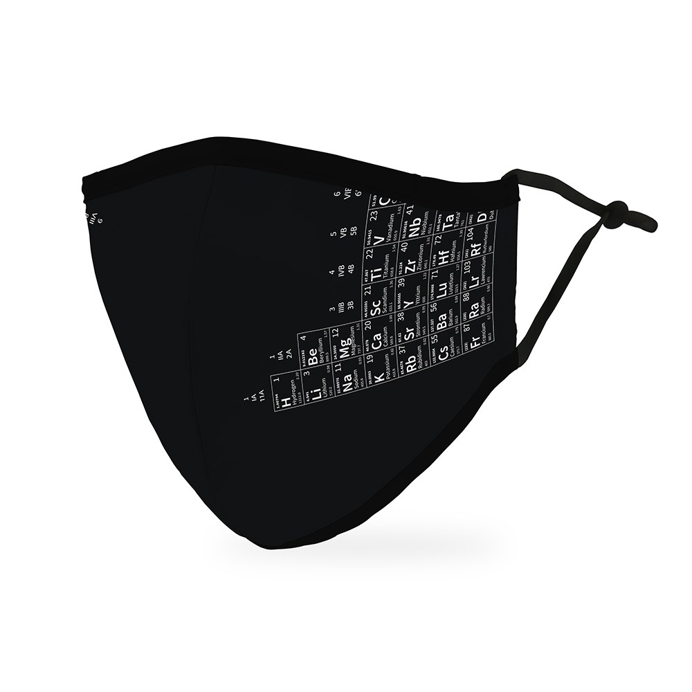 Adult Protective Cloth Face Mask - Periodic Table