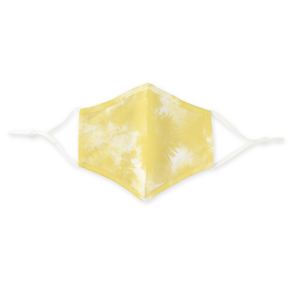 Kid's Protective Cloth Face Mask - Yellow Tie-Dye