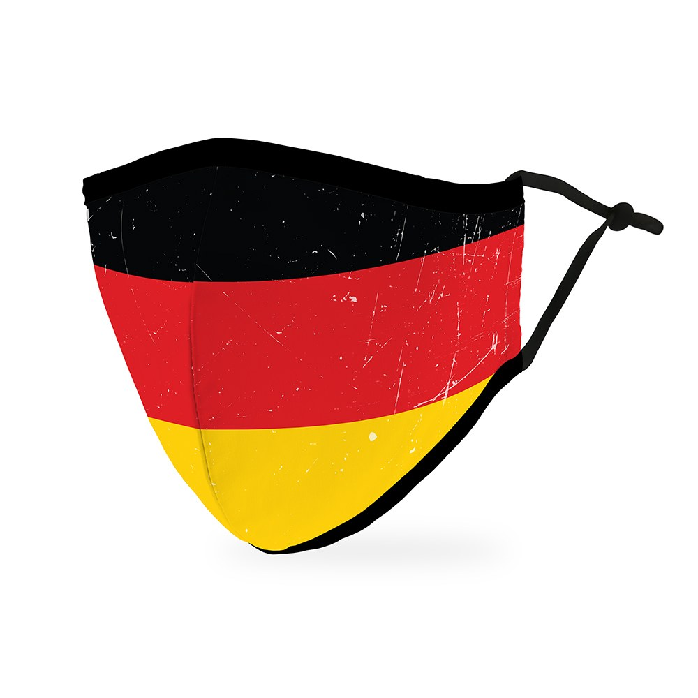 Adult Reusable, Washable Cloth Face Mask With Filter Pocket - German Flag