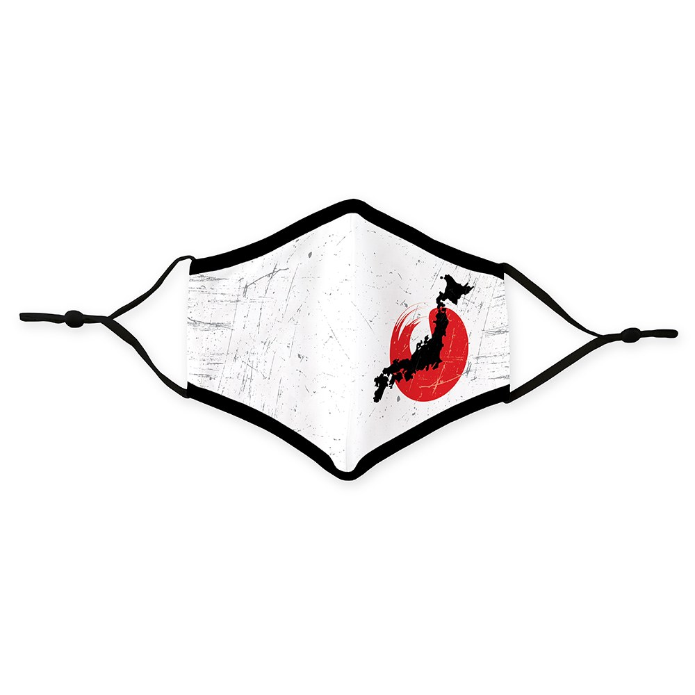 Adult Reusable, Washable Cloth Face Mask With Filter Pocket - Japanese Flag