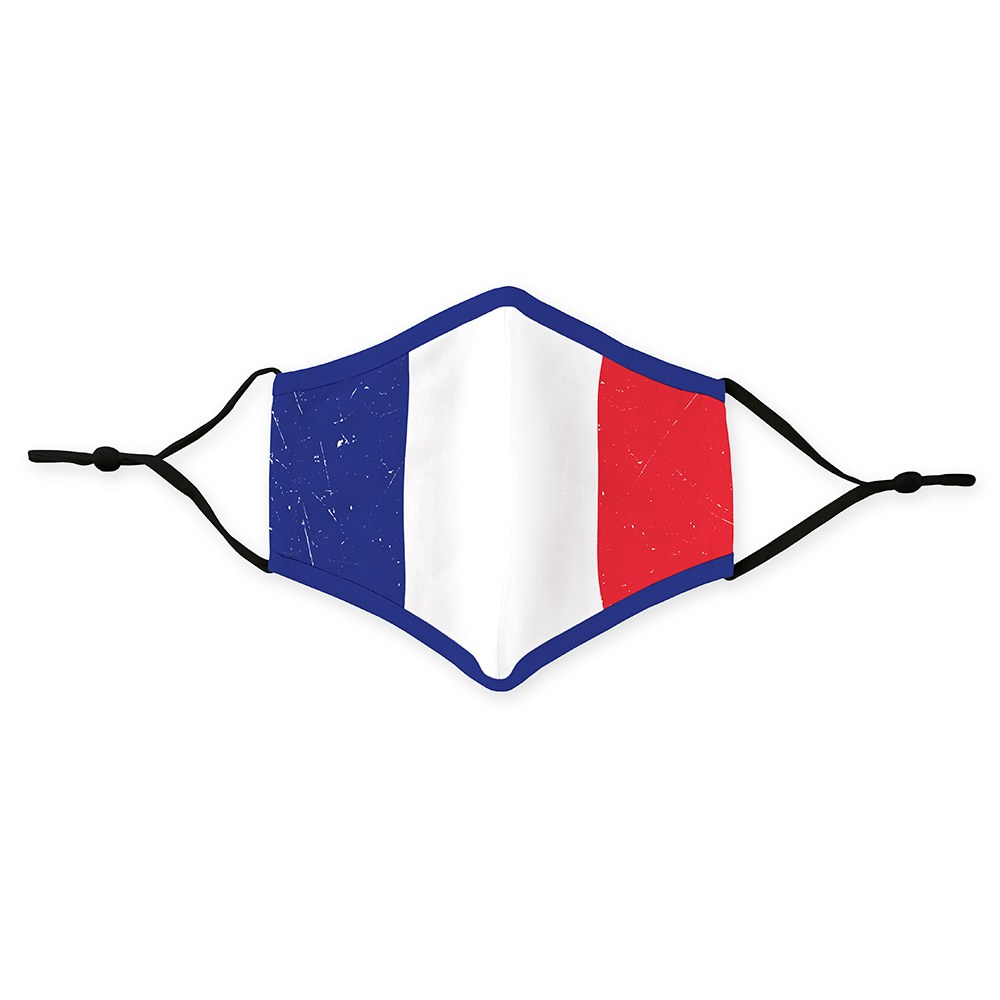 Adult Reusable, Washable Cloth Face Mask With Filter Pocket - France Flag