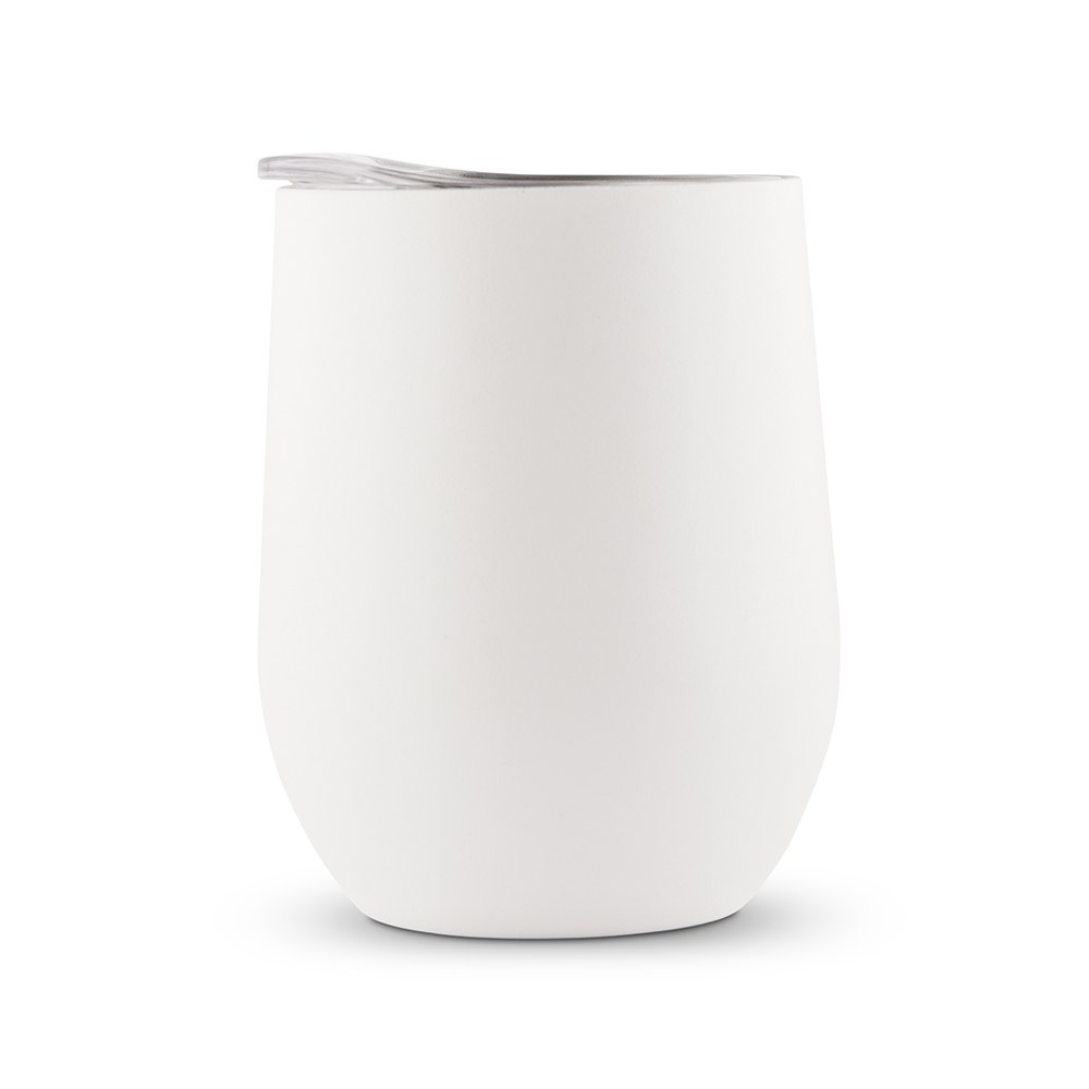 Stemless Travel Tumbler With Lid - White