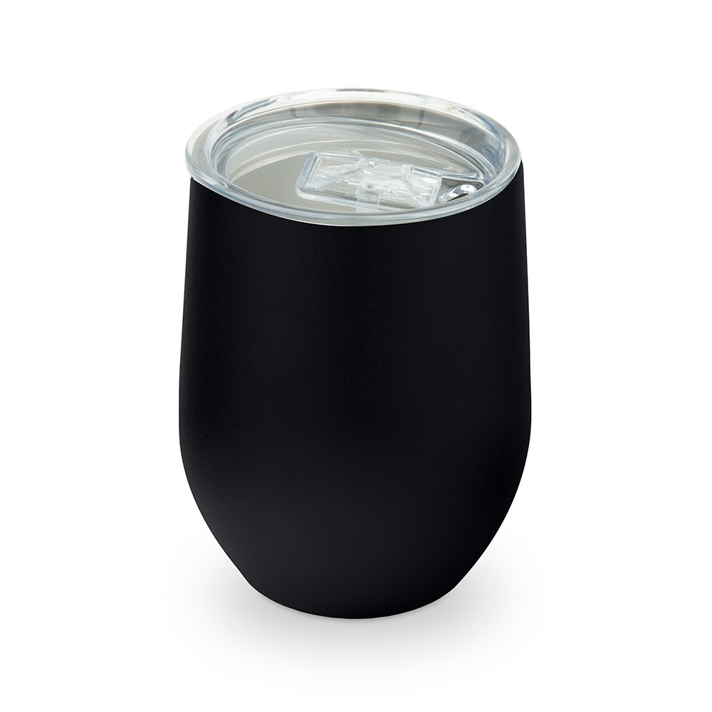 Stemless Travel Tumbler With Lid - Black