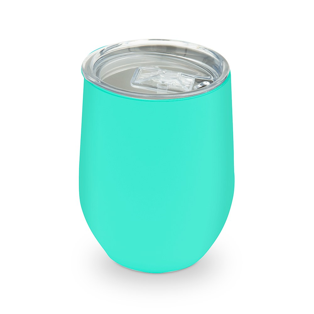 Stemless Travel Tumbler With Lid - Blue