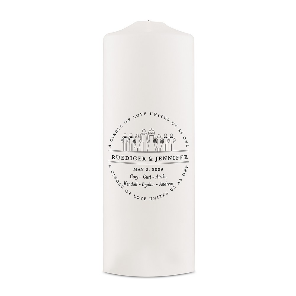 Personalized Family Unity Candle