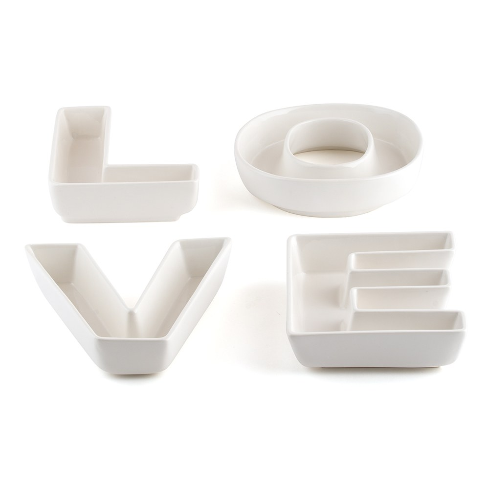 Wedding Reception LOVE Plates Set