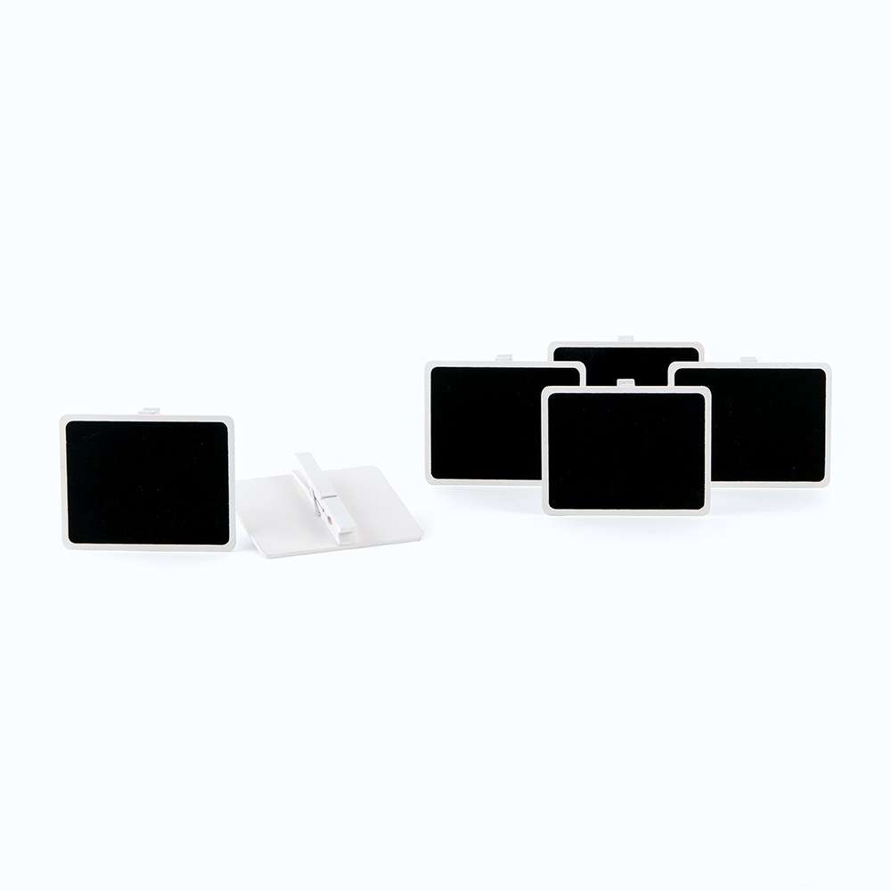 Wooden Black Board Wedding Favor with Clip with White Wash Finish