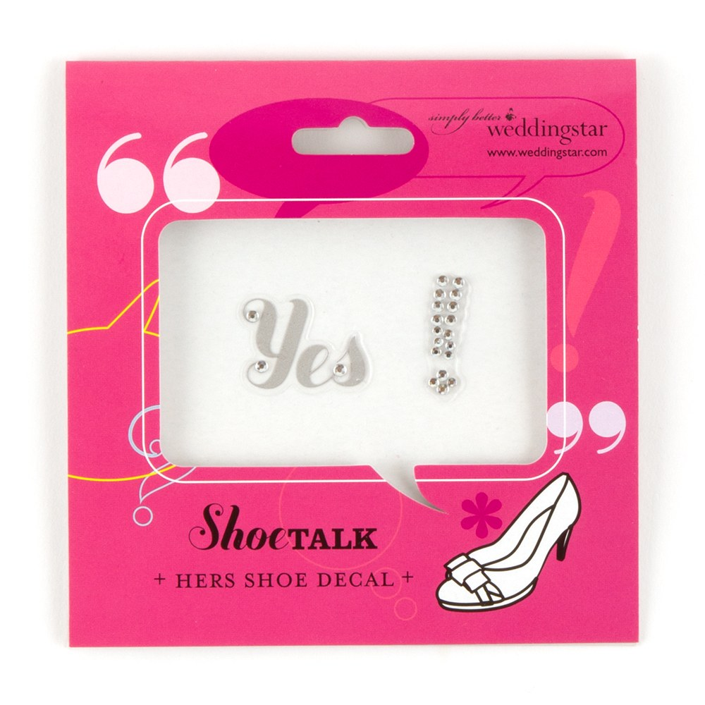 Yes Shoe Talk Decals for Shoes