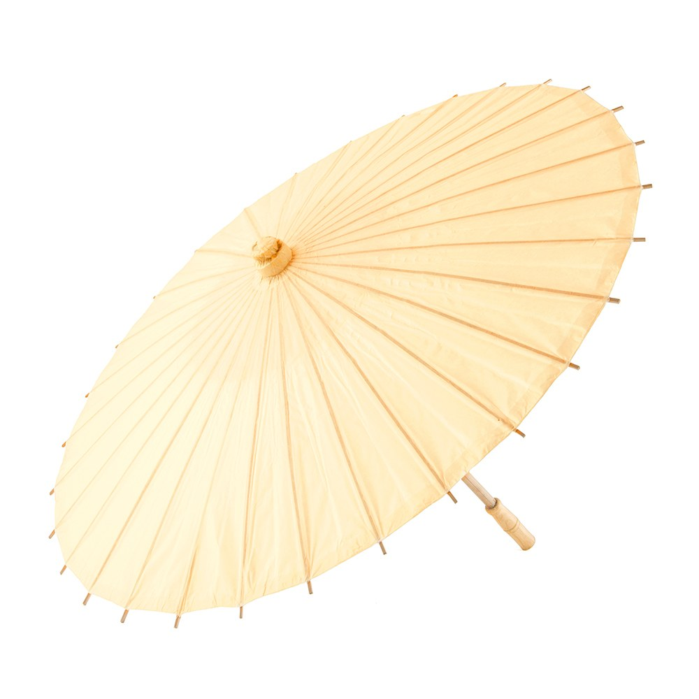 Paper Parasol with Bamboo Boning - Ivory