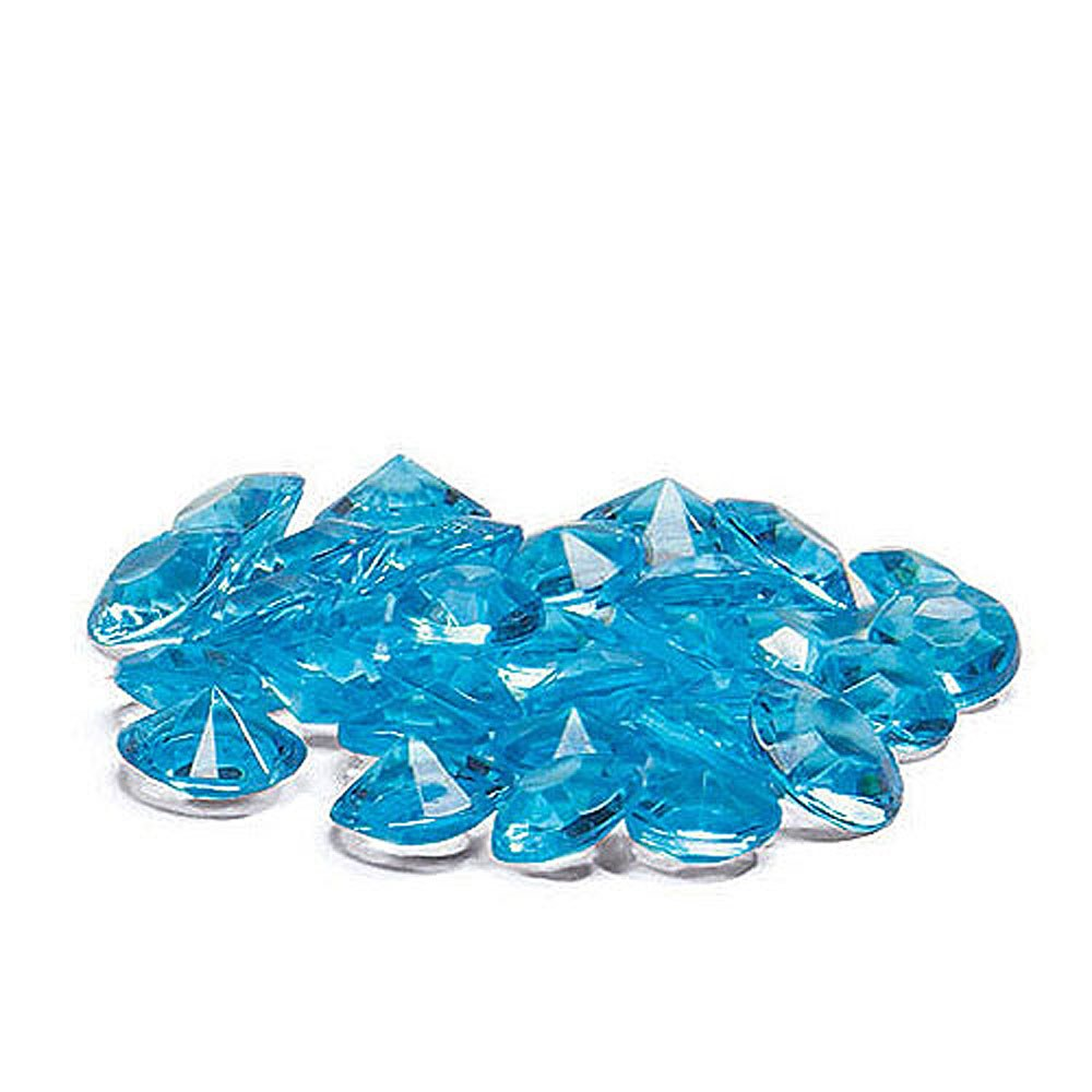 Acrylic Diamond Shaped Confetti - Aqua Blue