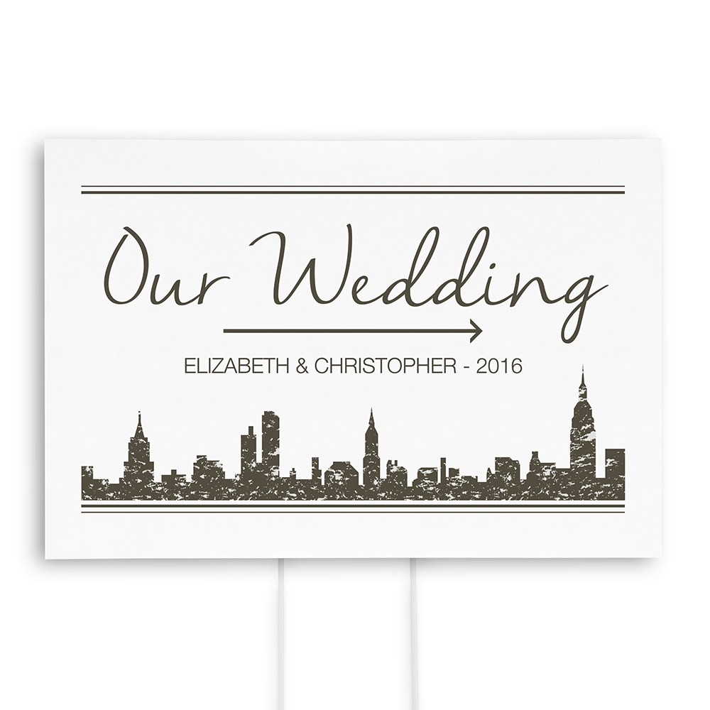 City Style Personalized Directional Sign