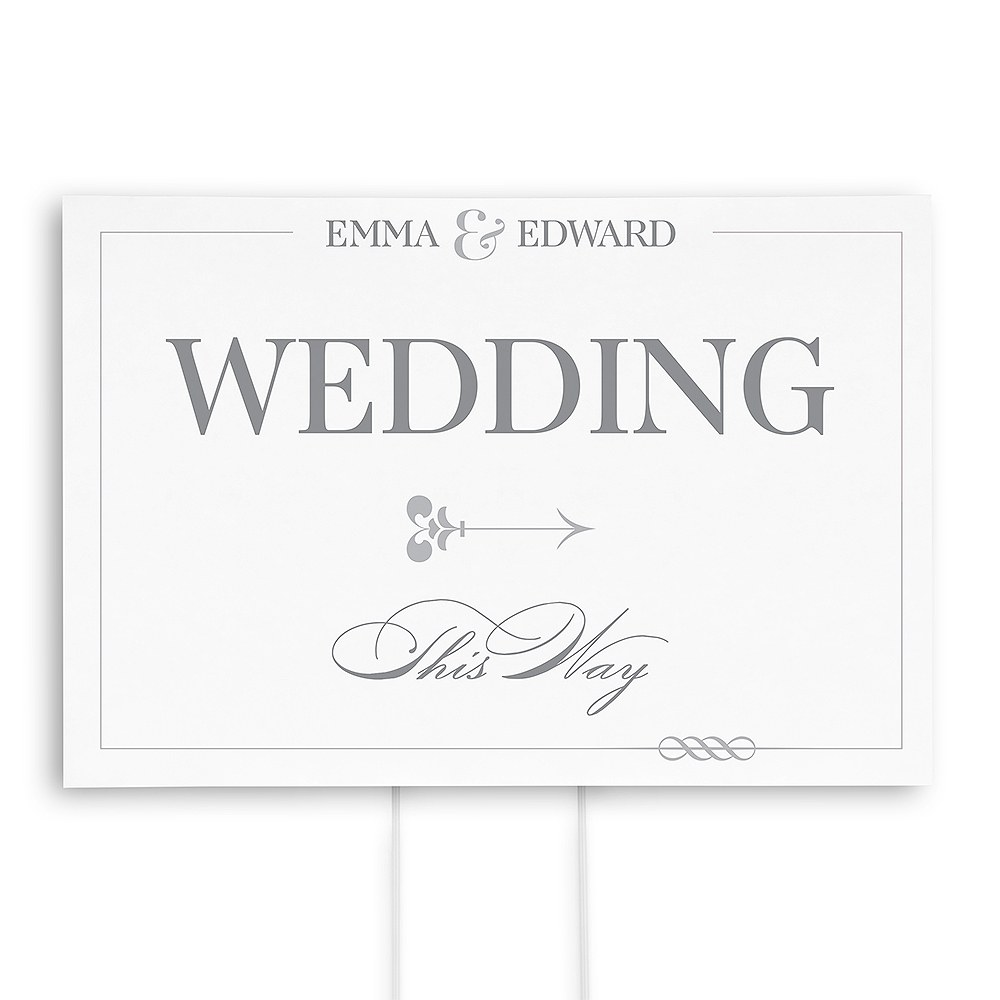 Classic Script Personalized Directional Poster Sign