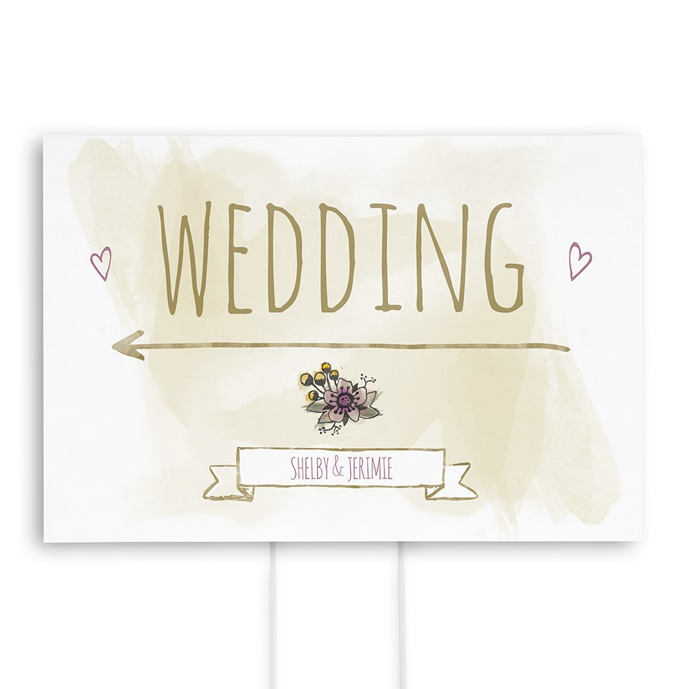 Natural Charm Personalized Directional Poster Sign