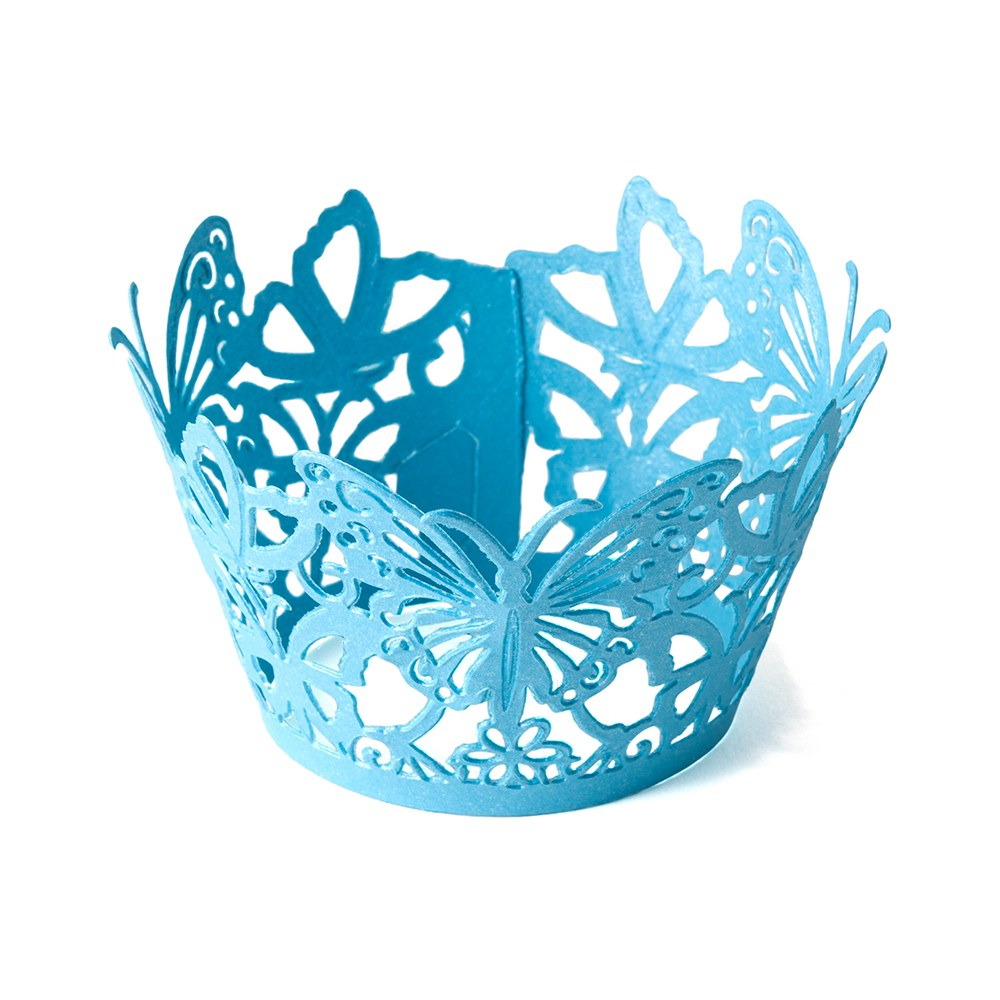 Beautiful Butterfly Filigree Paper Laser Cupcake Wrappers