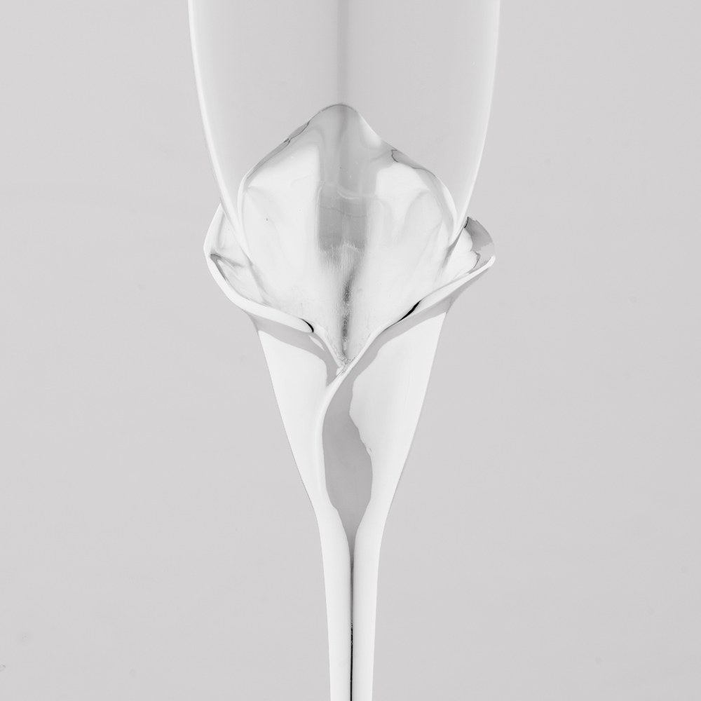 Calla Lily Toasting Flutes