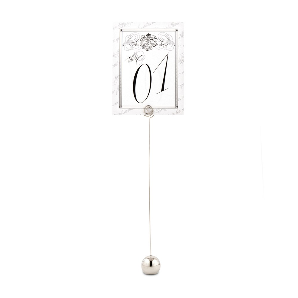 Classic Round Wedding Stationery Table Number Holder