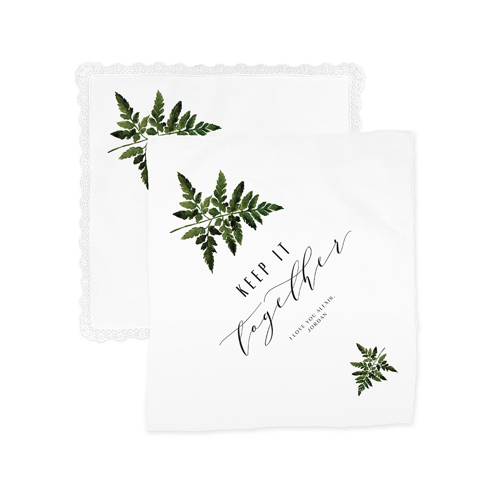 Greenery Keep It Together Personalized Handkerchief