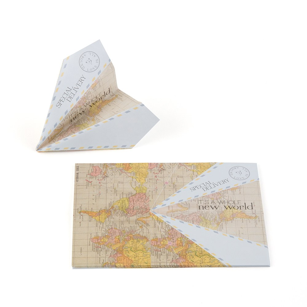 Paper Airplane Wishing Well Stationery Set