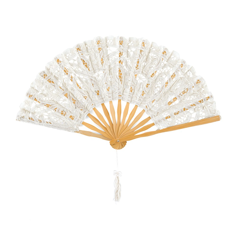 White Lace Hand Fan
