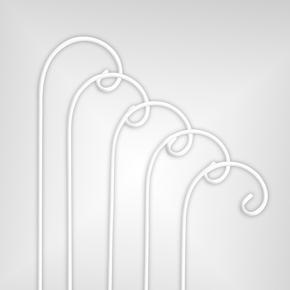 Decorating Metal Shepherd Hooks White
