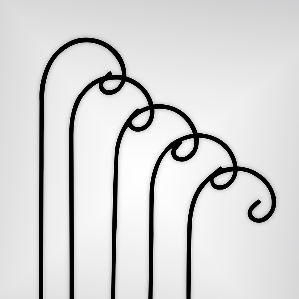 Decorating Metal Shepherd Hooks Black