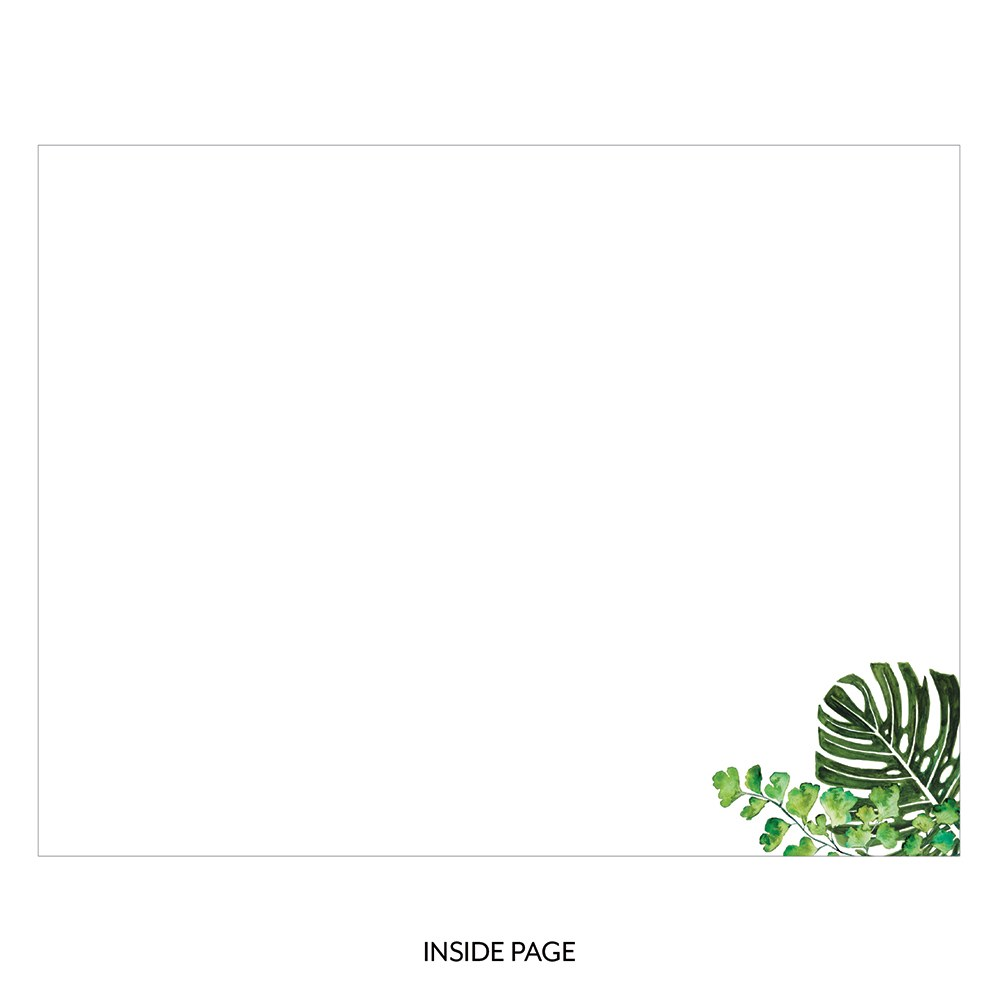 Personalized Wooden Wedding Guest Book - You and Me Greenery