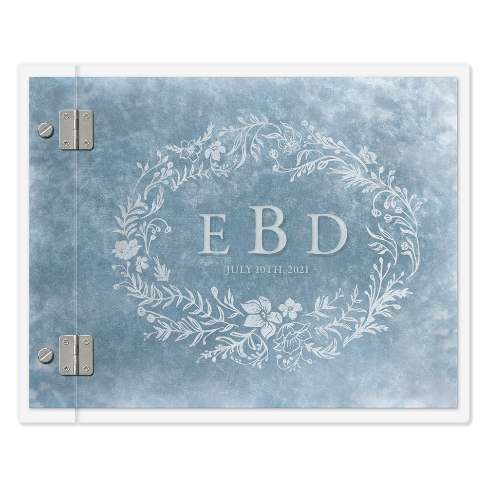 Personalized Clear Acrylic Wedding Guest Book - Modern Fairy Tale