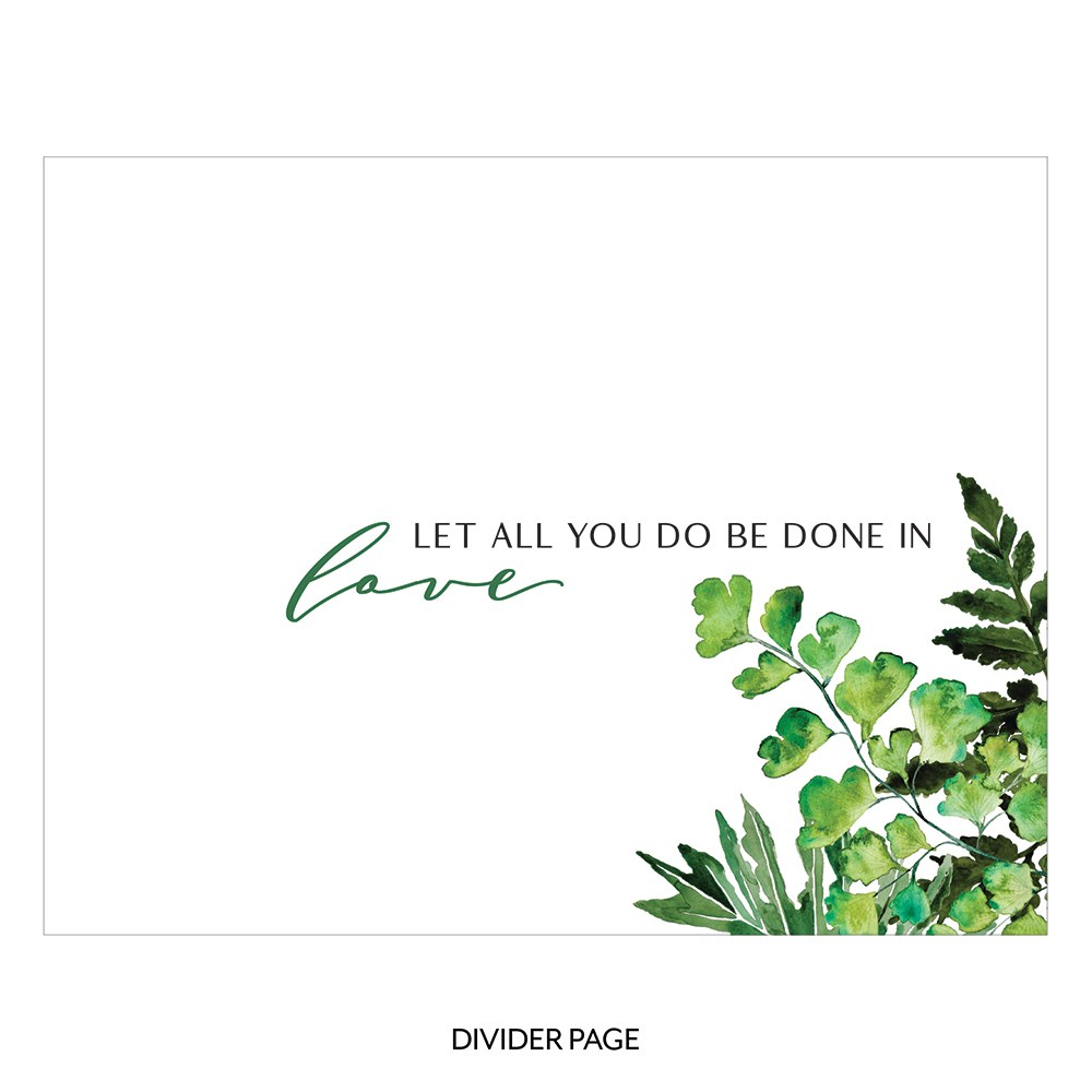 Personalized Clear Acrylic Wedding Guest Book - Modern Couple Greenery