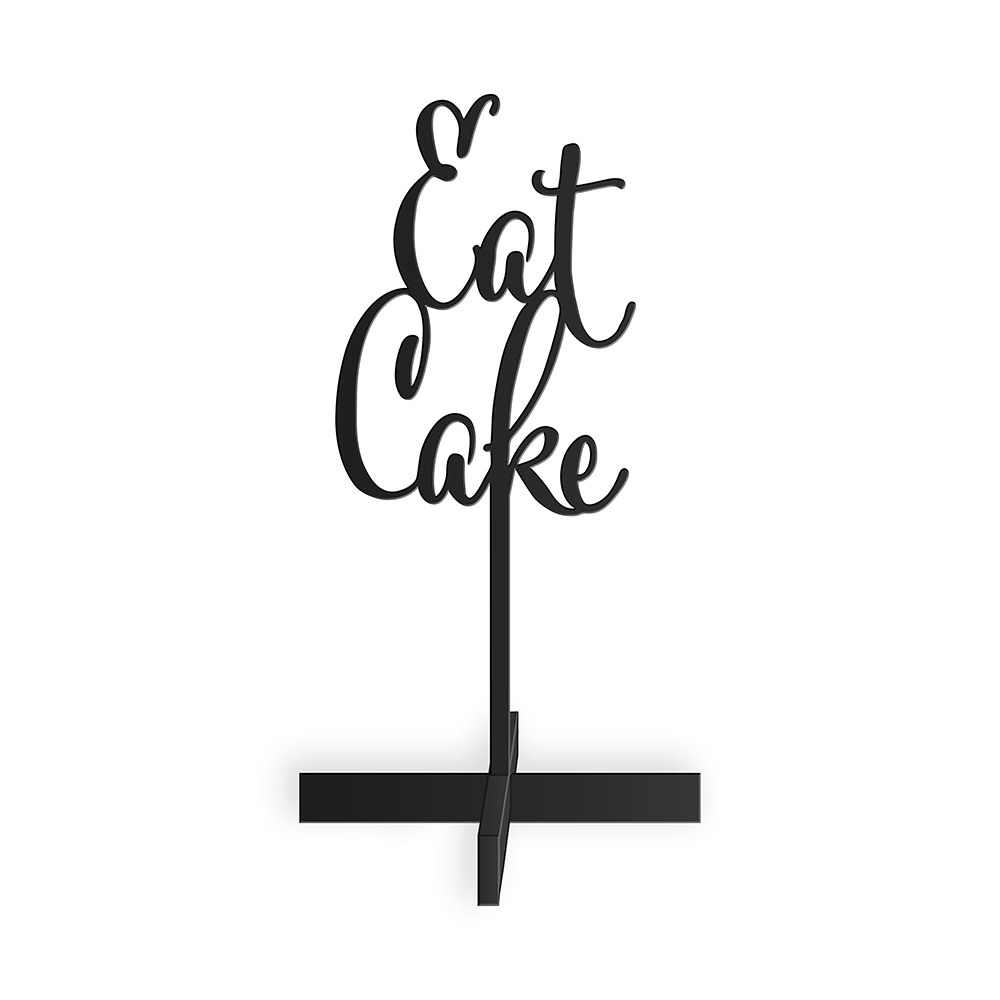 Eat Cake Acrylic Sign   Black
