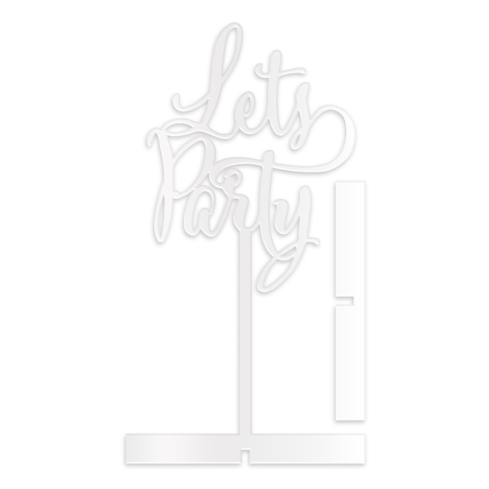 Let's Party  Acrylic Sign   White