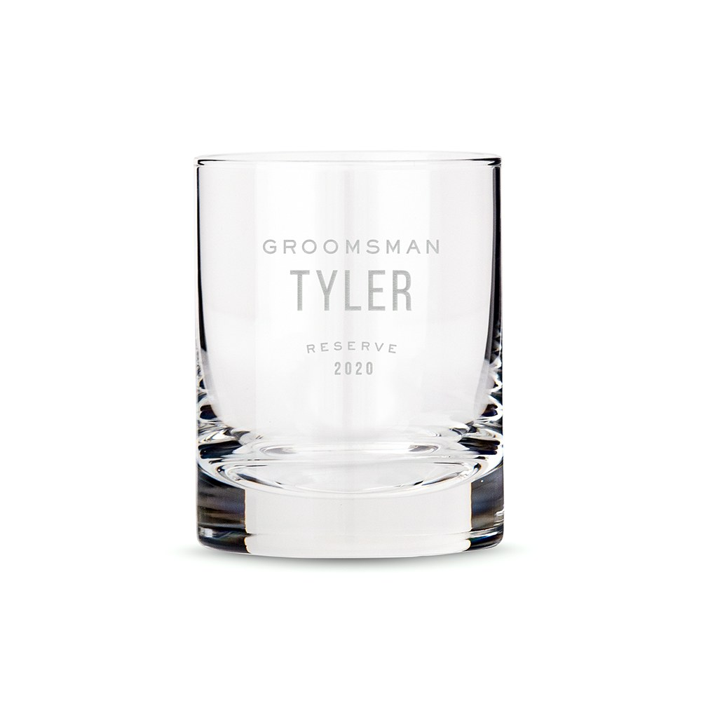 Personalized Whiskey Glass - Groomsman