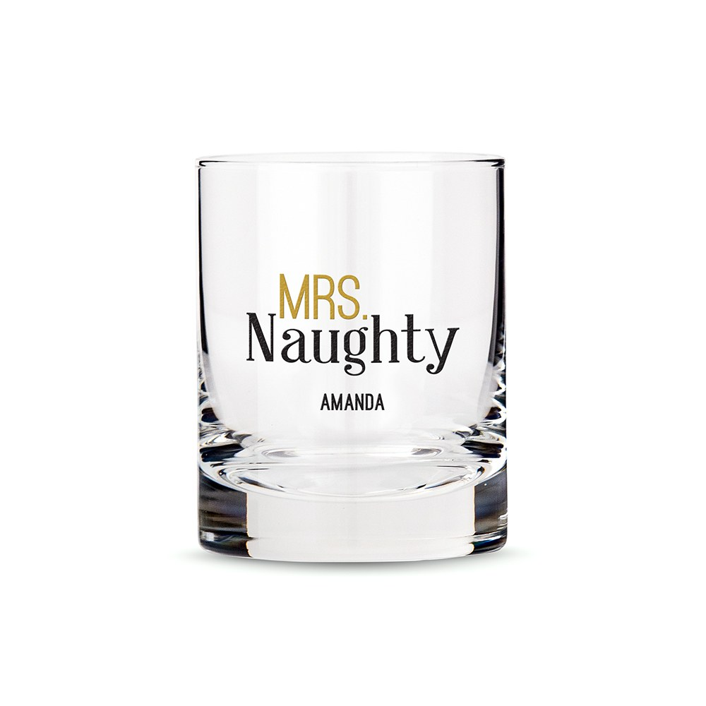 Classic Rocks Glass - Mrs. Naughty Printing