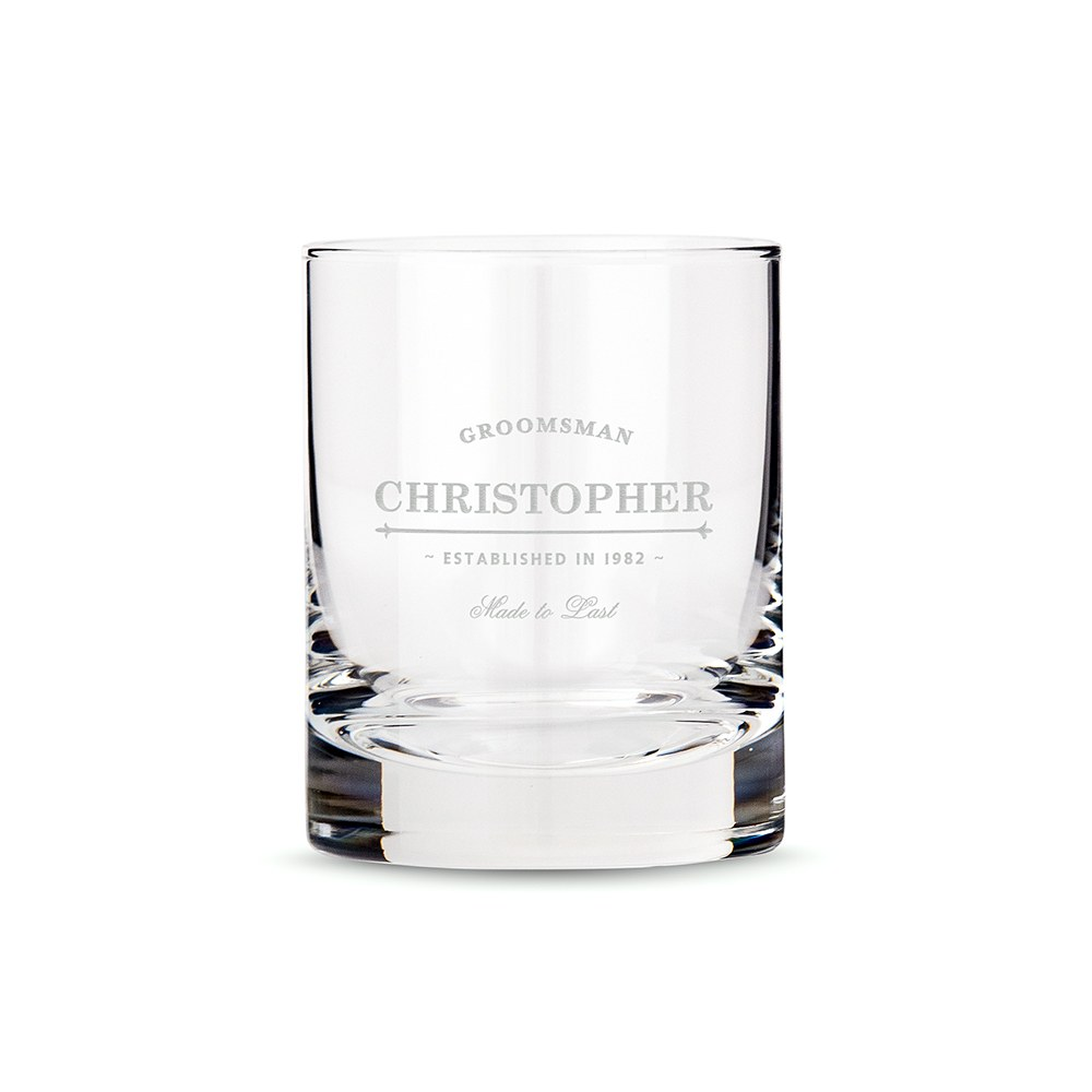 Personalised Crystal Whisky Glass Wedding Grandfather Of The Groom In Gift Box