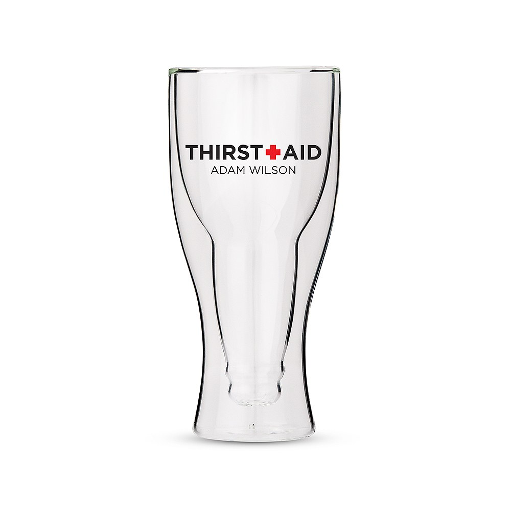 Personalized Double Wall Beer Glass – Thirst Aid Print