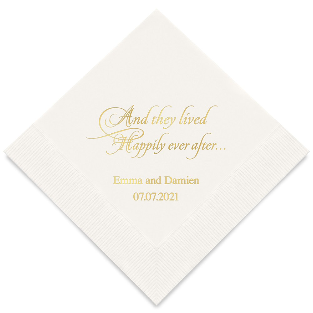 Happily Ever After Printed Napkins - The Knot Shop