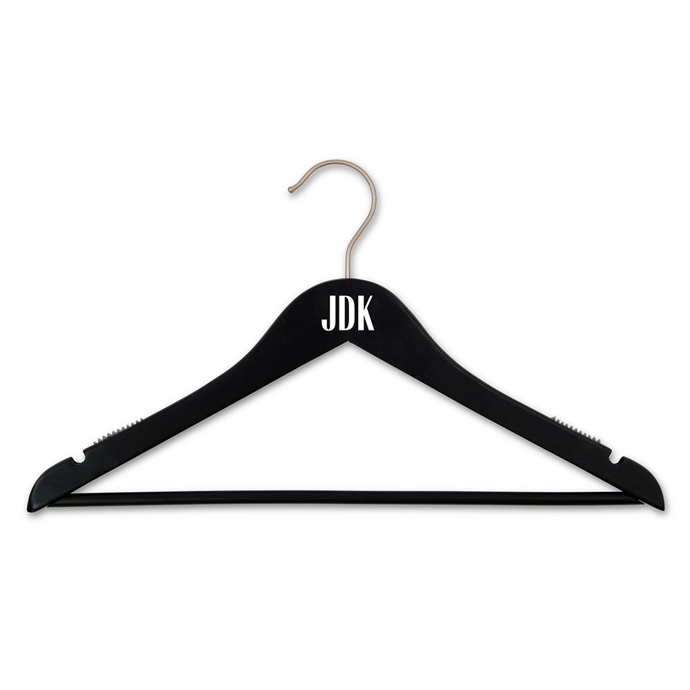 Personalized Wooden Wedding Clothes Hangers - Monogram Print