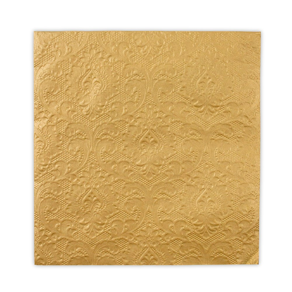 Gold Embossed Paper Napkins
